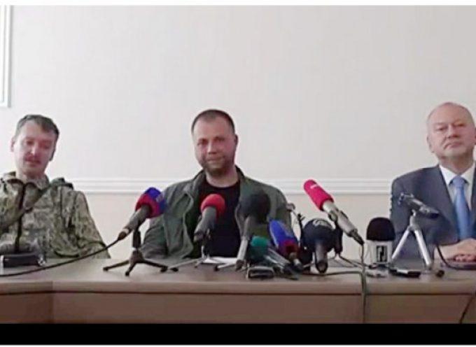 Conferenza stampa di Aleksandr Borodaj e Igor' Strelkov