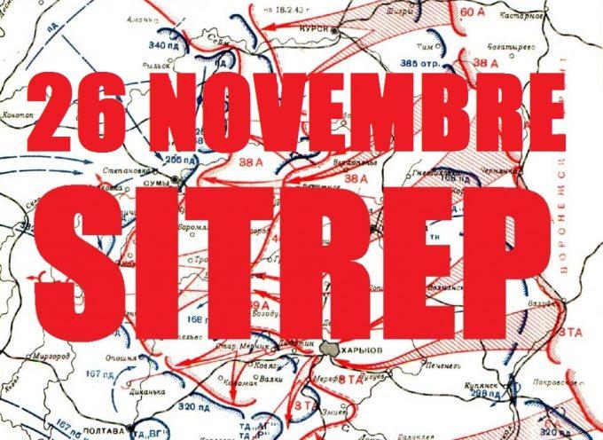 Situazione Militare in Novorussia al 26 Novembre