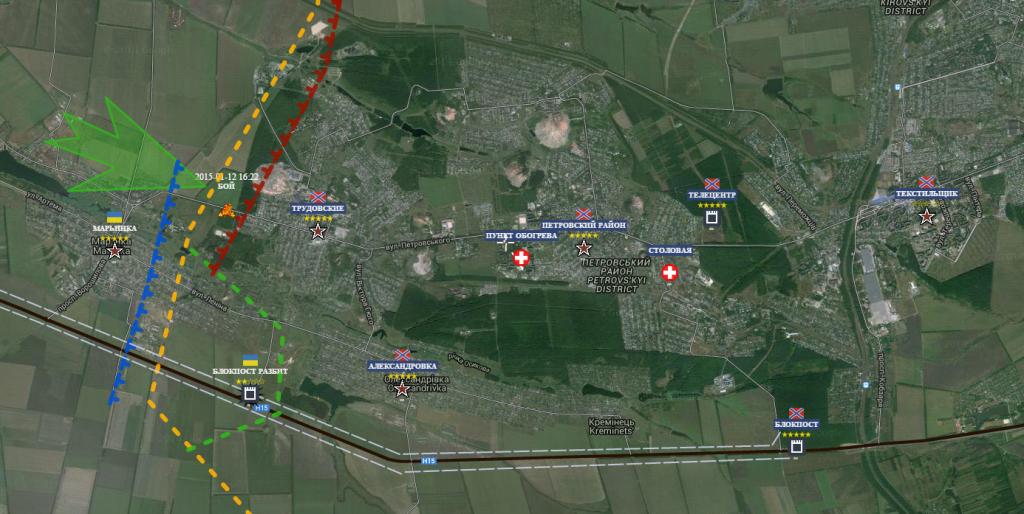 Sud ovest Donetsk Marinka