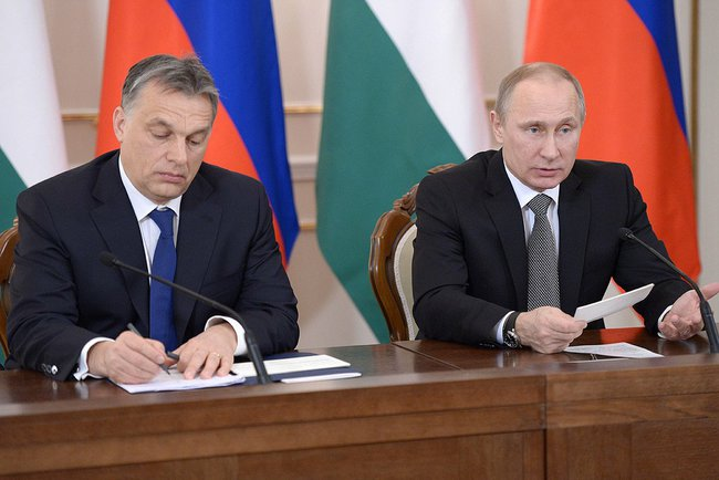 Victor Orban e Vladimir Putin a Mosca