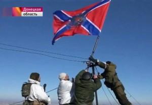 18 febbraio: la bandiera Novorussa sventola su Debaltsevo