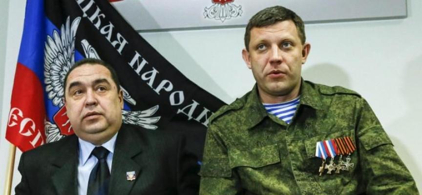 Conferenza stampa congiunta del PM DPR Zakharchenko e del PM LPR Plotnitsky