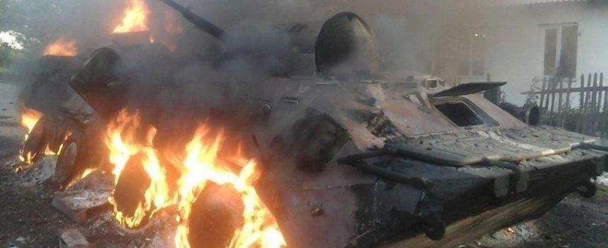 Soldati ucraini si arrendono a Debaltsevo