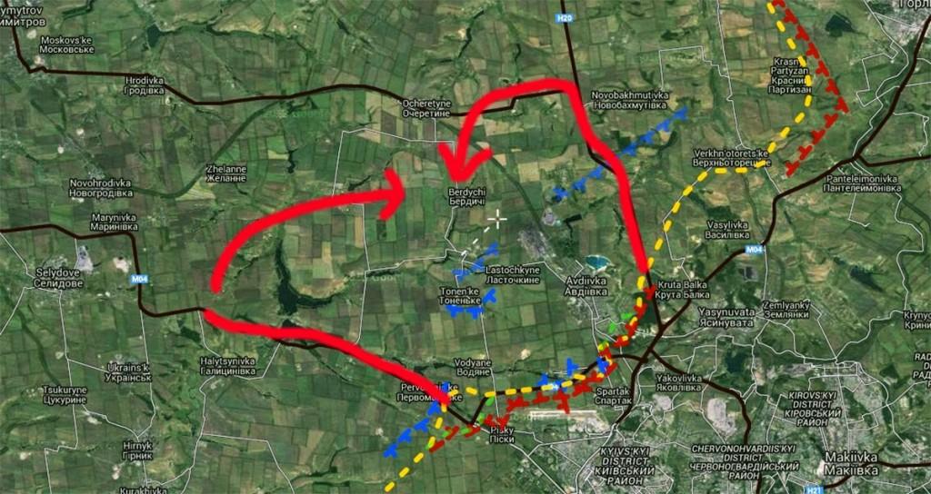 Possibile offensiva su Karlovka-Avdeevka