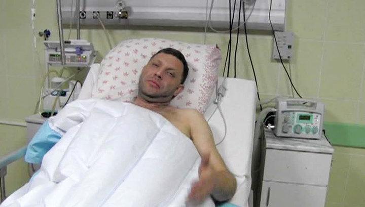 Zakharchenko dopo essere stato ferito.