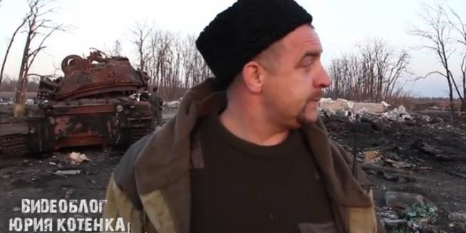 """Ataman """"Magadan"""", che controllava Petrovskoye. Recentemente è stato lasciato andare via e si è unito alla milizia territoriale."""