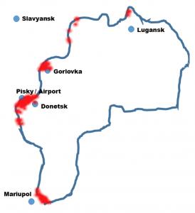 Mappa delle attività militari confermate