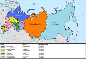 """Dal 2004 ad oggi la CIA continua a """"prevedere"""" la disgregazione della Federazione Russa. Sin ora senza risultati."""