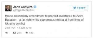 Il tweet del deputato