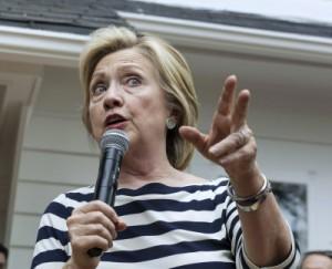 Democratic U.S. presidential candidate Hillary Clinton speaks in  Des Moines, Iowa.