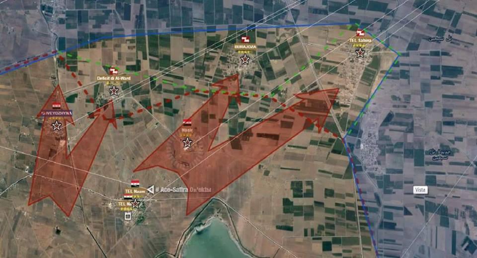 Sud ovest di Aleppo