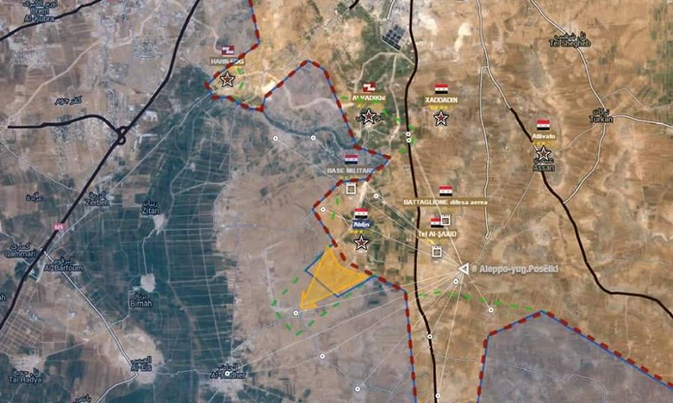 Sud est di Aleppo