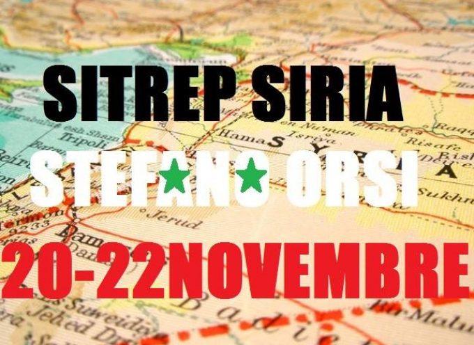 Situazione militare in Siria al 20-22 Novembre 2016