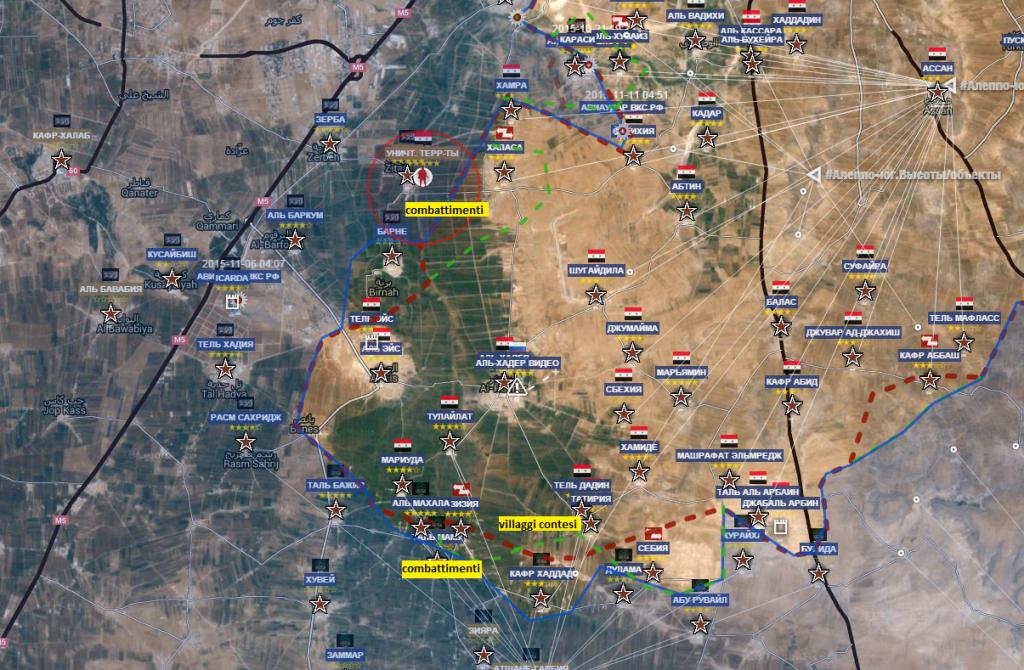 combattimenti in corso presso il fronte sud di Aleppo