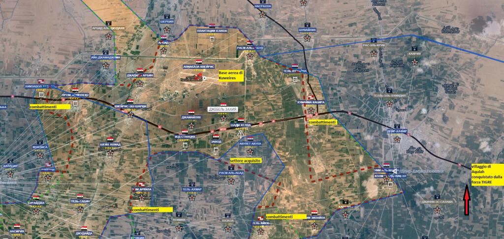 Movimenti truppe siriane e combattimenti base aerea di Kuweires