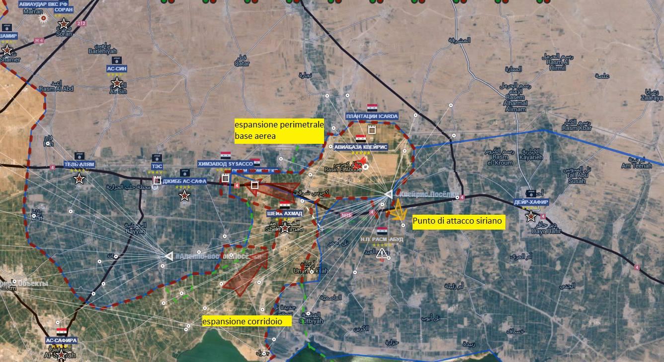 Fronte Sud Est di Aleppo Base di Kuweires