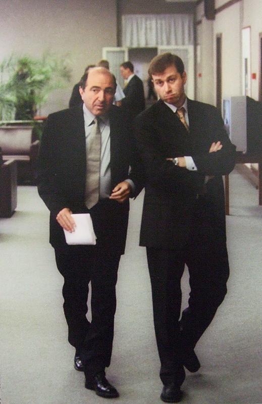 Gli oligarchi Berezovsky e Abramovich nel 2000.
