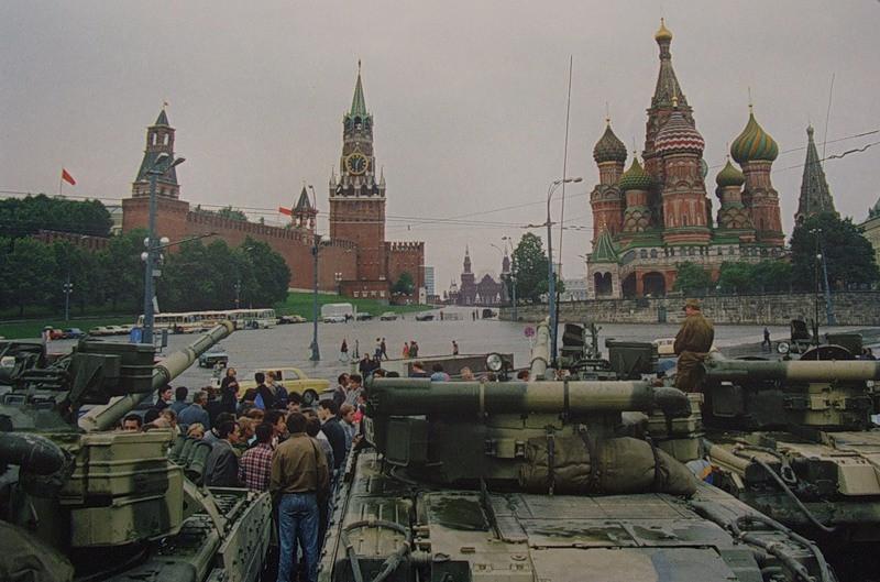 Il colpo di stato del 1991, a Mosca.
