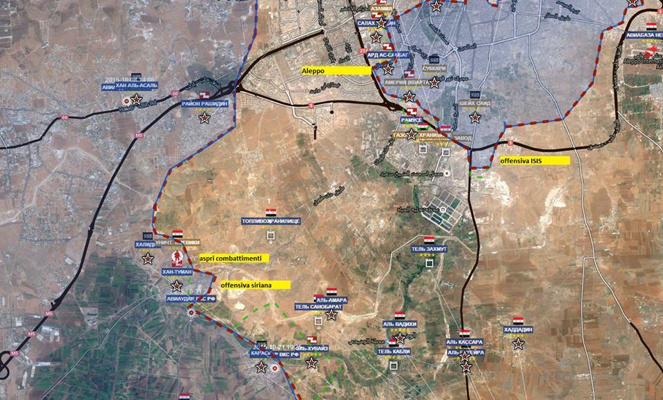 Fronte a sud ovest di Aleppo