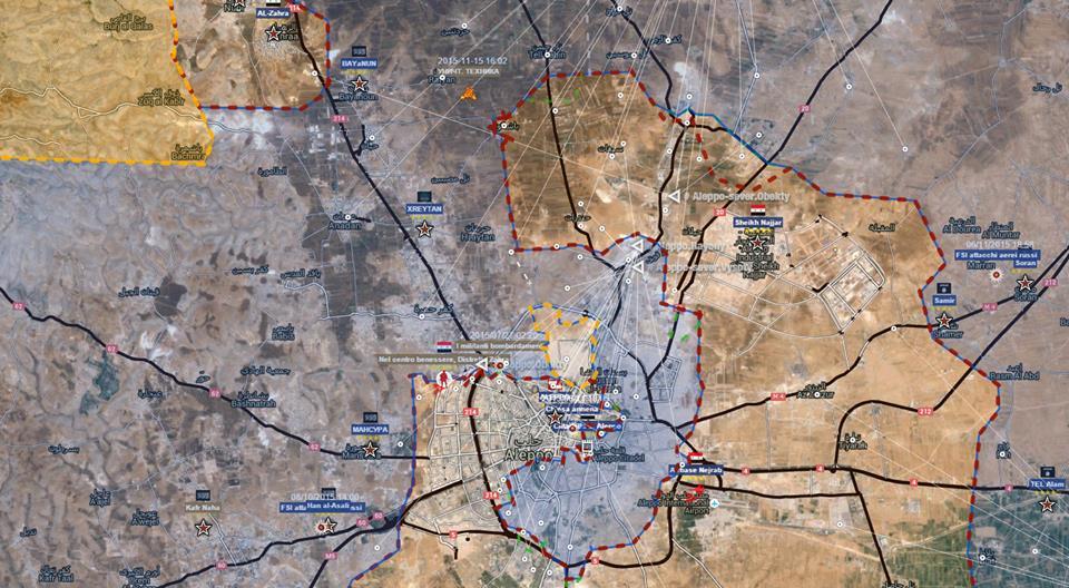 Situazione a nord di Aleppo, 14 novembre