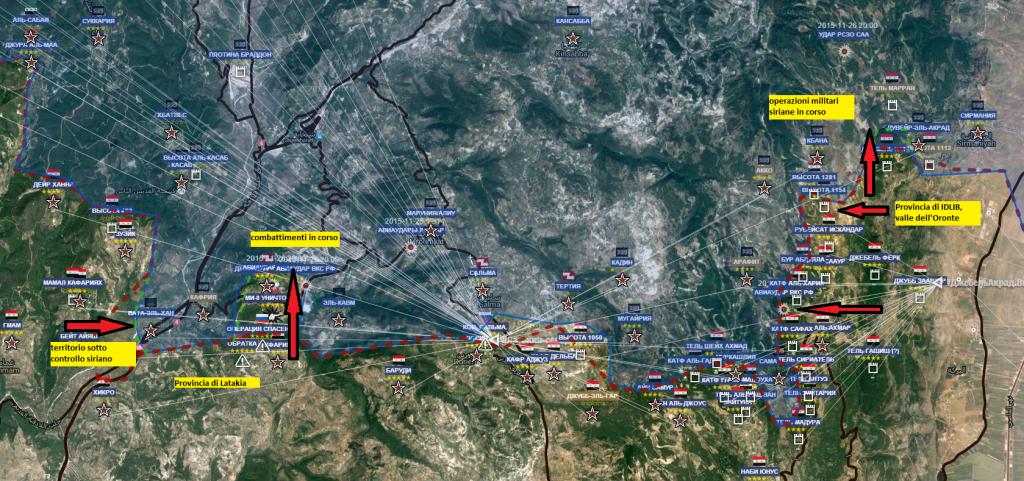 combattimenti al confine tra province di Idlib e Latakia