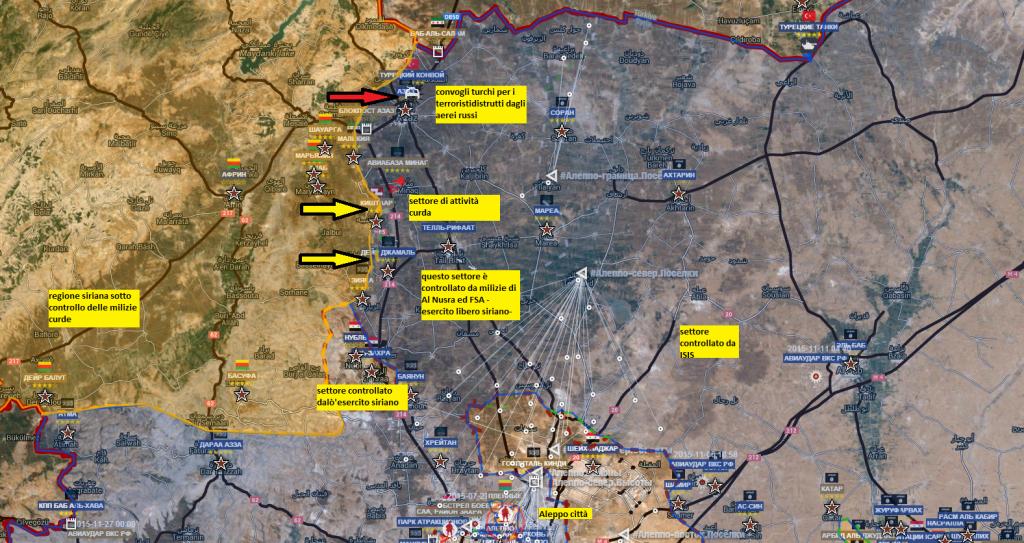 Curdi in azione a fianco dei Siriani fronte nord ovest di Aleppo