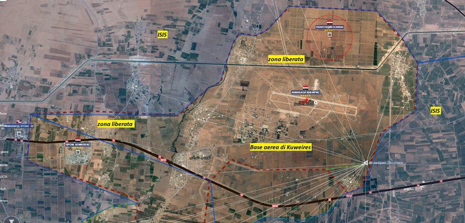 Situazione a sud ovest di Aleppo, base di Kuweires, 14 novembre