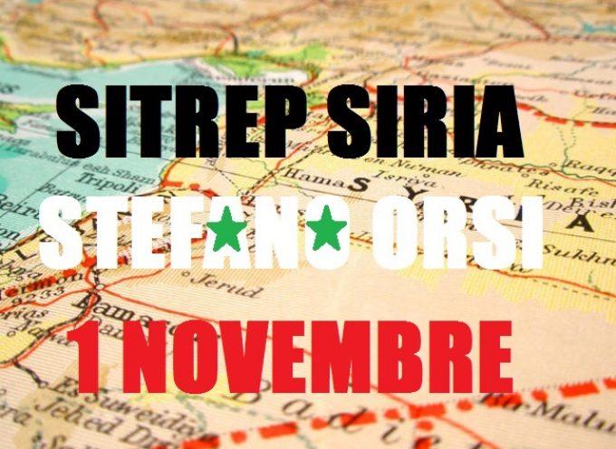 Situazione Militare in Siria al 1 Novembre 2015