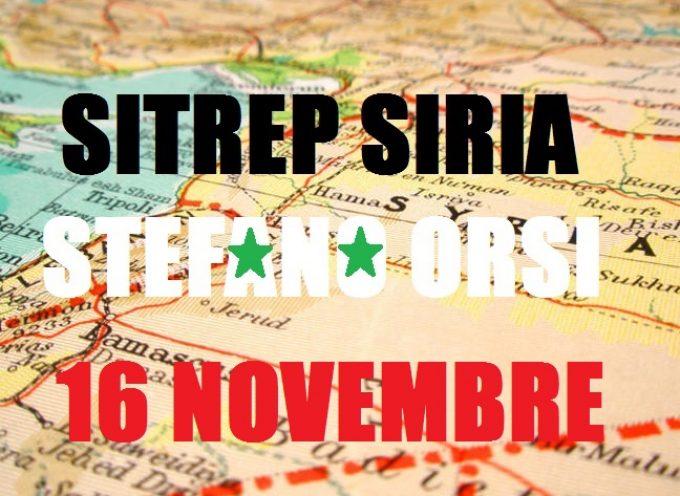Situazione Militare in Siria al 16 Novembre 2015