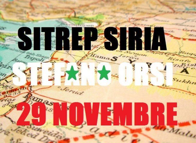 Situazione militare in Siria al 29 Novembre 2015