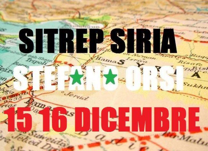 Situazione militare in Siria al 15-16 dicembre