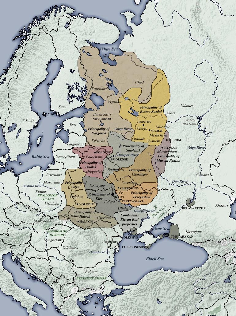 XI - XII secolo: i principati della Rus' di Kiev