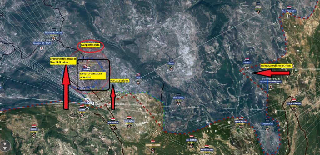 Fronte al confine province di Latakia-Idlib