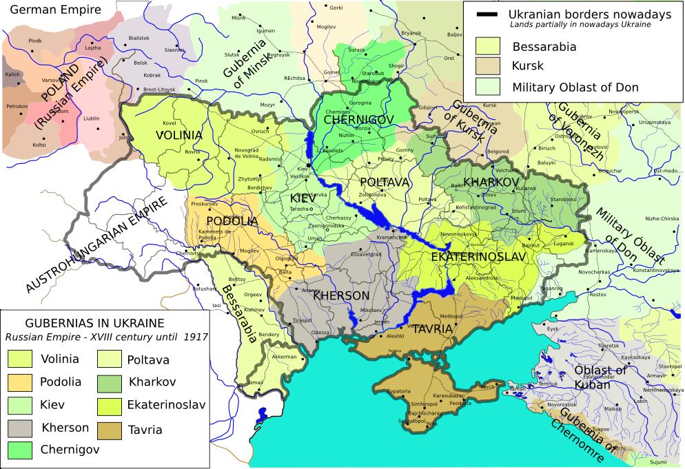 Impero Russo: i governatorati del Sud Ovest alla vigilia della Prima Guerra Mondiale