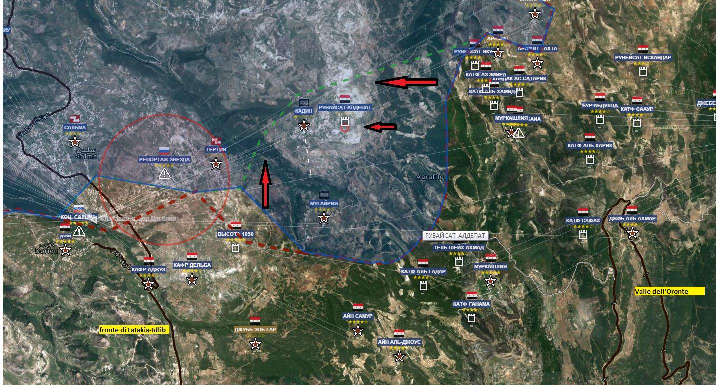 Confine fra le provincie di Latakia ed Idlib