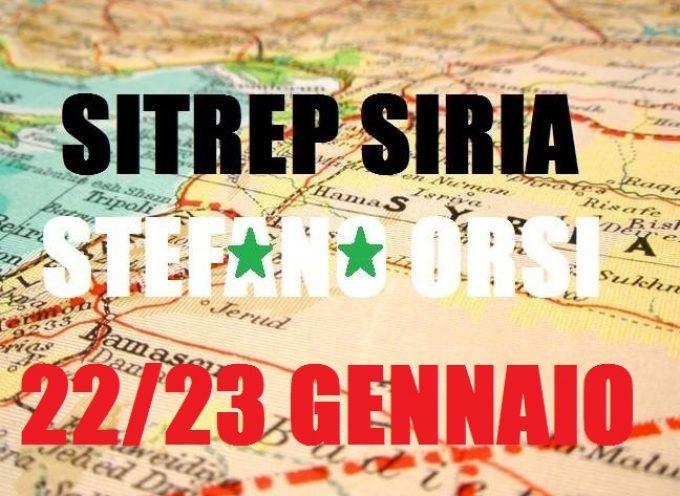Situazione militare in Siria al 22 gennaio