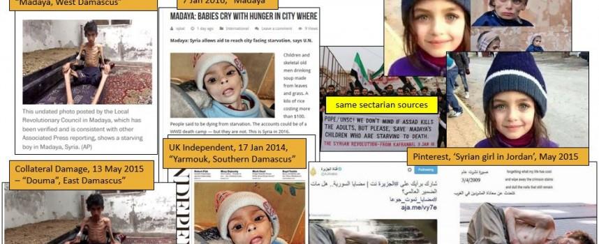 Madaya: utilizzate ancora foto falsificate nella sporca guerra in Siria