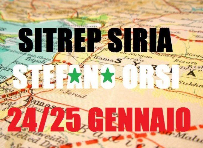 Situazione militare in Siria al 24/25 gennaio