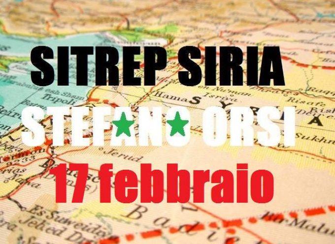 Situazione operativa sui fronti siriani del 17-2-2016