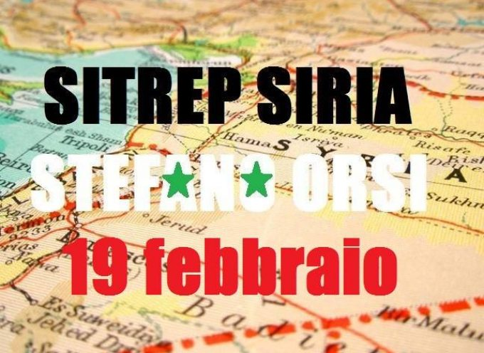 Situazione operativa sui fronti siriani del 19-2-2016