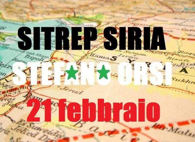 Situazione operativa sui fronti siriani del 21-2-2016