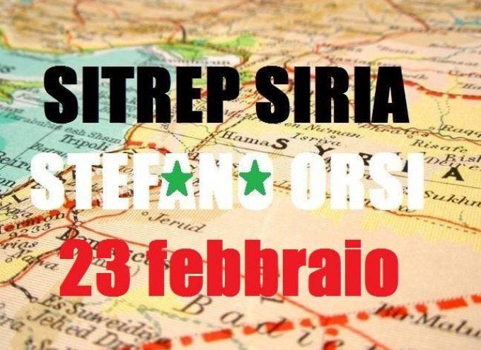 Situazione operativa sui fronti siriani del 23-2-2016