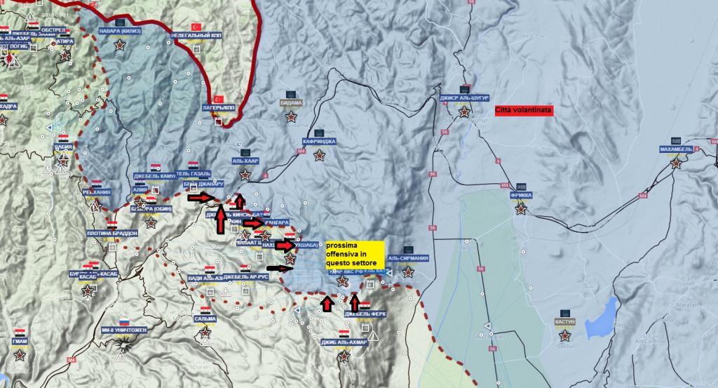 Latakia mappa in rilievo 23-2-2016