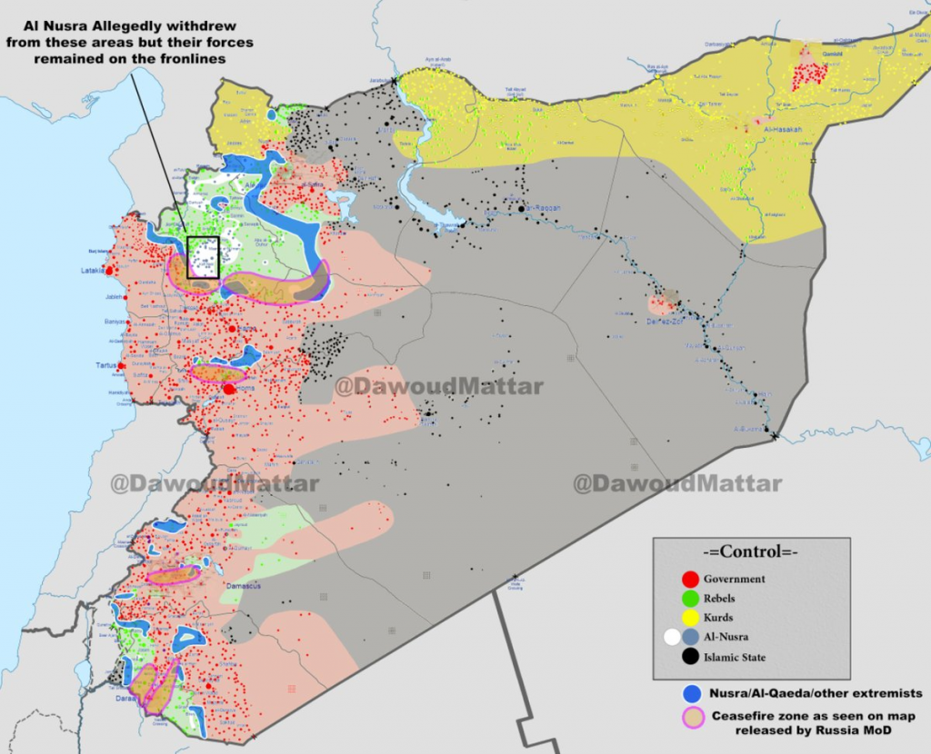 cessate il fuoco, la mappa 27-2-2016