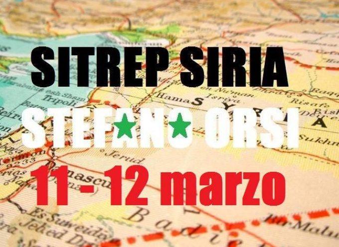 Situazione operativa sui fronti siriani del 11 e 12 Marzo 2016