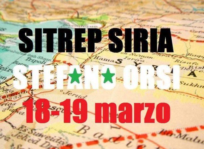 Situazione operativa sui fronti siriani del 18 e 19 Marzo 2016