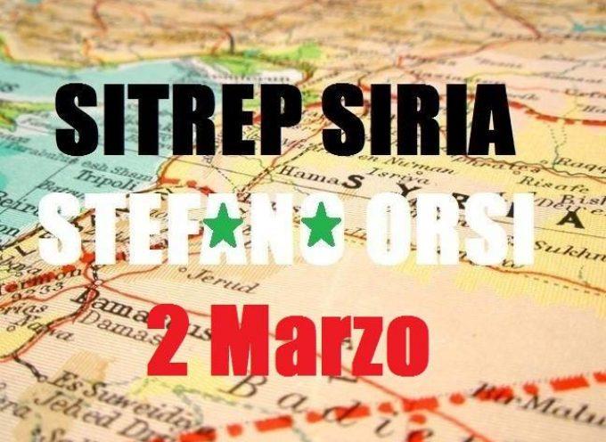 Situazione operativa sui fronti siriani del 2-3-2016
