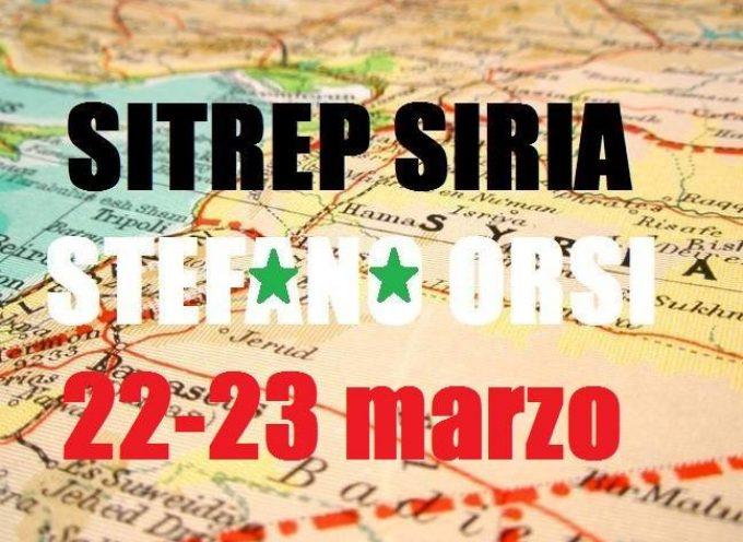 Situazione operativa sui fronti siriani del 22 e 23 Marzo 2016