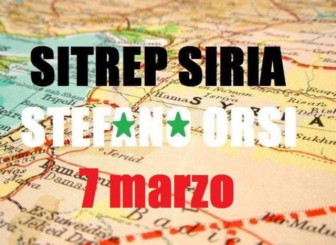 Situazione operativa sui fronti siriani del 7-3-2016
