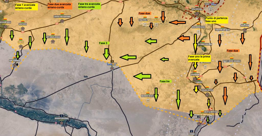 Fronte complessivo siriano-curdo 6-3-2016